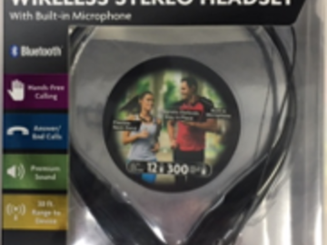 Make An Offer: 1,008pc LOT OVER THE NECK BLUETOOTH STEREO HEADSET
