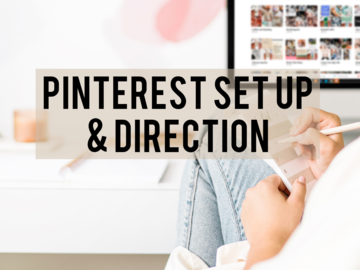 Offering online services: Pinterest Set Up and Direction