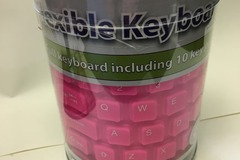 Buy Now: 24 Pink Flexible USB keyboard for laptops