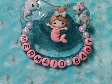 Selling with online payment: Mermaid Baby Custom Decorated Adult Pacifier