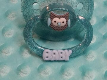 Selling with online payment: BABY Custom Designed Adult Pacifier - OWL