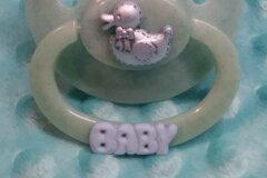 Selling with online payment: BABY Custom Designed Adult Pacifier -Duck