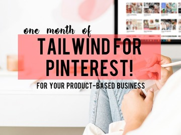 Offering online services: One month of Tailwind for Pinterest