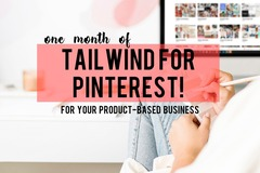 Offering online services: ⭐️ One month of Tailwind for Pinterest