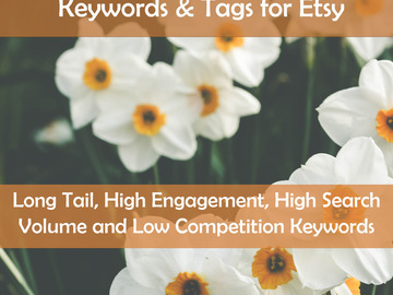 Offering online services: Specific Listing or Product Keywords & Tags for Etsy