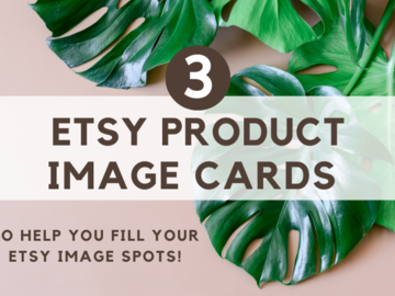Offering online services: Branded Product Image Cards for your Etsy Listings