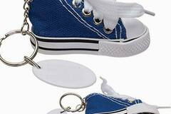 Buy Now: 100 Blue Hi-Top Canvas Sneaker Key chains – Minor Blemishes
