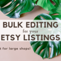 Offering online services: Bulk Editing for your Etsy Listings