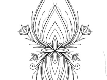 Tattoo design: Ornamental (ideal for ankle)