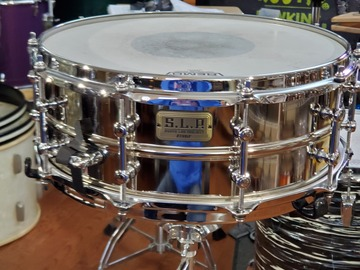 Selling with online payment: Tama SLP 5.5 x 14 vintage steel snare drum
