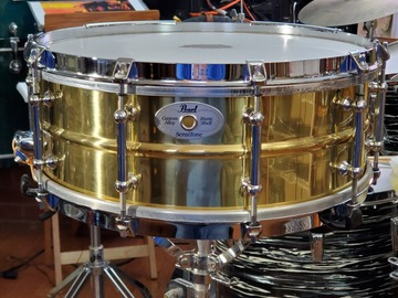 "Selling with online payment: 1997 5.5 X 14"" Pearl Brass Sensitone Classic, Model #B6514DCLa"