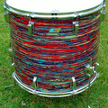 Selling with online payment: ULTRA RARE 1971 Ludwig 18x20 floor tom Psychedelic red