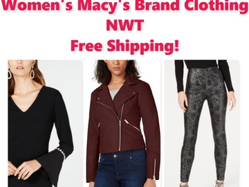 Buy Now: Women's Macy's Brand Clothing, NWT, $3,380 MSRP, Free Shipping!