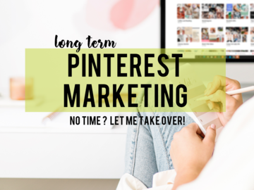 Offering online services: Long Term Pinterest Marketing (3 months)