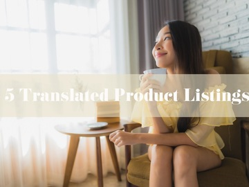 Offering online services: Five Listings Translated to English
