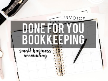 Offering online services: Bookkeeping Services