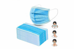 Buy Now: 100 PCS - FDA Reg. Disposable Surgical Face Mask  Ship From USA