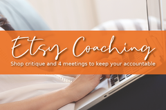 Offering online services: Etsy Shop Critique and Coaching