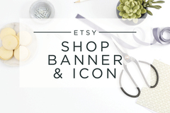 Offering online services: Personalized Etsy Shop Banner and Icon