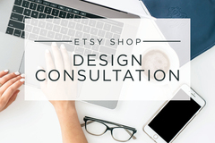 Offering expert consultation: Design Consultation for Your Etsy Shop