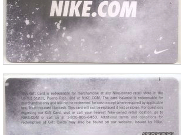 Vente: e-carte cadeau Nike (313€)