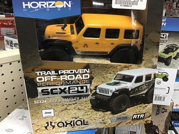 Selling: SCX24 2019 Jeep Wrangler JLU CRC 1/24 4WD-RTR YEL.  AXI00002T2