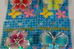 Buy Now: Lot of 60 Flashing Hair Clips. Assorted.  Off/On Switch