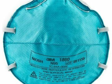 Contact Supplier: 3M™ Health Care Particulate Respirator and Surgical Mask 1860, N9