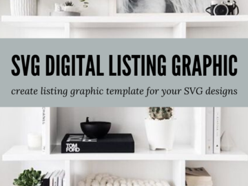 Offering online services: Design SVG Digital Listing Graphic Template