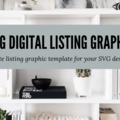 Offering online services: Design SVG Digital Listing Graphic Template