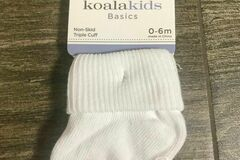 Buy Now: Koala Kids Basics White Socks Newborn to Toddler Sizes 3 Pack