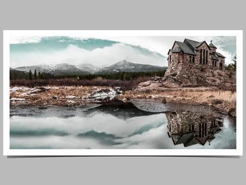 Selling with online payment: Church on The Rocks Giclée Print