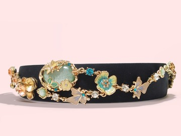 : Enamel Glaze Forest Crystal Embellishment Headband