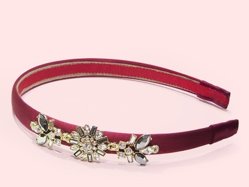 : Utopia Floral Crystal-embellished Art Deco Headband