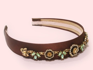 : Crystal and Floral Pastel Embellishment Statement Headband