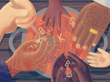 Offering with online payment: Editorial Illustration