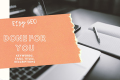 Offering online services: SEO Keywords/Tags for Etsy Shop Listings