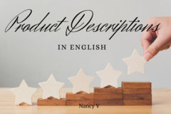 Offering online services: Product Descriptions in English