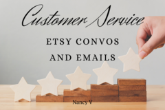 Offering online services: Etsy Customer Conversations and Emails