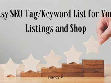 Offering online services: Etsy SEO Tag/Keyword List for Your Listings and Shop