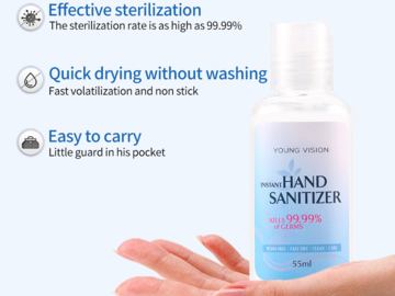 Buy Now: 20 Bottles Hand Sanitizer 55ml Disposable alcohol  Disinfectant