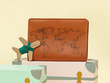 : Brown Stitch Where You've Been Passport Cover