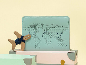 : Mint Stitch Where You've Been Passport Cover