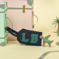 : Navy Stitch Your Own Design - Luggage Tag