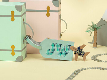 : Mint Stitch Your Own Design - Luggage Tag