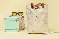 : Stitch Where You've Been - Natural Cotton Canvas Tote Bag