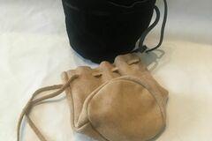 Verkaufen: Lederbeutel genäht in braun oder Schwarz