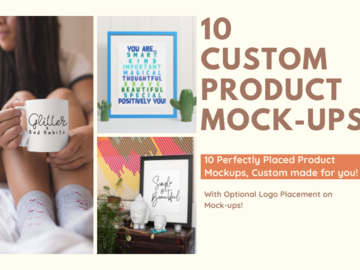 Offering online services: Product Mock-ups Tailored to You!