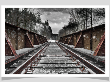 Selling with online payment: Deserted Tracks Photographic Print