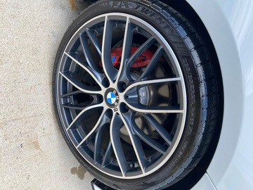 "Selling: BMW Geniune OEM 405M 20"" Staggered Wheels, Tires, and TPMS Sensor"